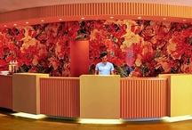 World's Coolest Reception Desks / Las recepciones de hotel más de moda en el mundo