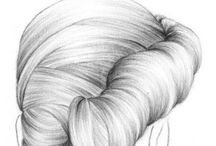 Drawing Hair / How to draw different types of hair.