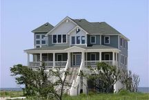 "The Coastal House Plan: Casual and Informal Living on the Oceanfront / A ""house on stilts"" (or piers) designed for relaxed and informal waterfront living, the coastal or beachfront house plan can be as trendy and sophisticated as they come. http://www.theplancollection.com/house-plan-related-articles/the-coastal-house-plan-casual-and-informal-living-on-the-oceanfront"