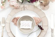 Tabletop Decor & Design / Wedding reception place settings, tablescape design, and decor.