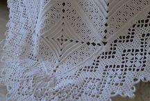 Sengetæppe hæklet