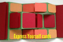 Express Yourself cards / Handmade cards crafted to perfection, left blank for you to express your sweet feelings yourself in your own way. No one else knows better than you your special feelings for a special person on a special occasion.