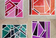 Geometria / Valkoiset raamit