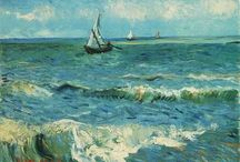 seascapes, beaches, boats.