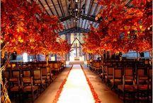 fall leaves wedding