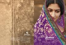 Victoria Pink / Designer Printed Sarees
