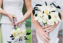 Bruidswerk inspiratie / Verschillende ideeën voor bruidsboeketten en corsages