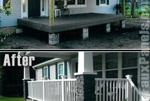 Front porch/outdoor patio concrete