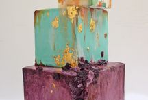 Abstract rustic cakes