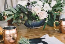 Copper and Green Wedding
