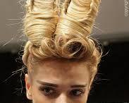 Hairstyles: extravagant, absurd, amusing
