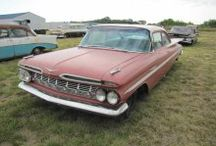 "Lambrecht Chevrolet Company Auction / In 2013, more than 500 historic vehicles in various conditions, dubbed ""survivor cars,"" were auctioned in Pierce, Nebraska and on Proxibid."