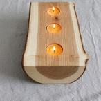 Wood canle holder