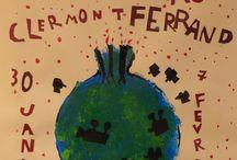 Des affiches pour un festival (10e édition) / Les écoles du Livradois-Forez participant aux séances Cinémôme durant le Festival du court métrage de Clermont-Ferrand ont eu la possibilité de préparer les séances de courts métrages en imaginant une affiche. Les élèves de la maternelle au CM2 et leurs enseignants ont eu l'occasion de revisiter, détourner l'affiche officielle du Festival, aller à la rencontre de Blexbolex pour s'inspirer de son univers ou encore « plancher «  sur une des thématiques des panoramas du Festival : Rétro Pédalage.