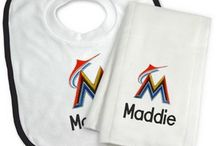 Miami Marlins Baby Gifts / Personalized Baby Gifts For Fans Of The Miami Marlins Major League Baseball Team.