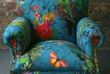 Comfortable colorful chairs