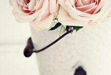 Flowerd roze