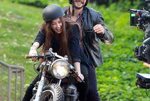 Krasne baby a motorky