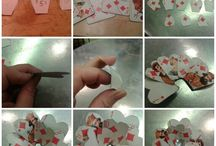 School project: Diy playing card flower
