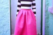 Winter skirt fashion