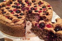 dortík s ovocem bez cukru a mouky