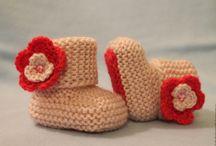 вязаные пинетки для малыша