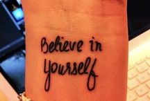 Tattoo's / by Christine Stein