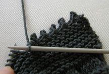 Técnicas de tricot e crochet