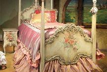 bedrooms / by Caryn Bebeau