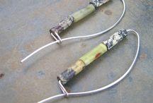 Handmade wire ear hooks