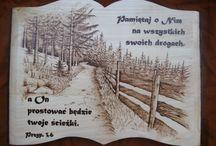 my pyrography / pirografia w drewnie