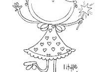 Tegning af pige