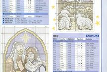 CROSS STITCH NATIVITY,RELIGIA