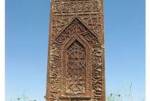 Ahlat mezar taşları - Seljuk gravestones at Ahlat