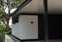 Poolhouse garage idea