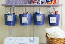 Organize: Área de Serviço / Lavanderia. / Que tal organizar sua área de serviço/lavanderia? Qdo tudo está visível e a mão, fica muito mais prático e fácil. Então, mãos a obra!