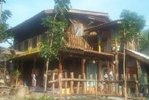 My Brother's Home / Rumah Kakak Ku / Home, Garden, fishpond, Wood