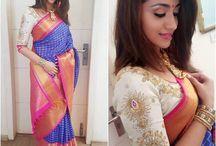 saree colour combos
