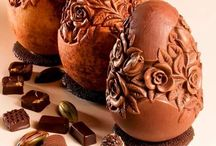 Chocolate sculptures