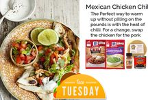Taco Tuesday / Taco Tuesday...what more can we say? Try out these great taco recipes and other Tex-Mex favourites. <><><><> Don't forget to click further on each recipe idea to find the full ingredient list & recipe! <><><><> All recipes are made using products from Kelly's Expat Shopping right here in the Netherlands. Visit us online, in Den Haag or in Wassenaar. The perfect shop for British & American expats!