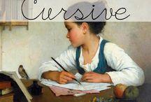 Homeschool: Cursive