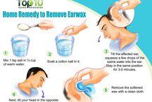Remove ear wax