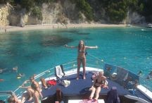 "Corfu Beaches  / Discover the ""diamond"" beaches of Corfu & swin to the aquamarine waters! www.captaintheocorfu.net www.kavosboozecruise.com"