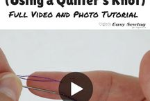 How to tie a quilters knot