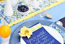 festa azul e amarelo