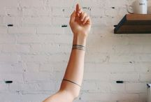 line and abstract tattoos