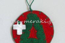 Χριστουγεννιάτικα μαρτυρικά βάπτισης / Handmade mpomponiera, martirika for christening. Μαρτυρικά και μπομπονιέρες γάμου - βάπτισης ξεχωριστές, ιδιαίτερες δημιουργίες, όλα χειροποίητα φτιαγμένα με αγάπη και ... Με Μεράκι. Μαρτυρικά βάπτισης χριστουγεννιάτικα στολίδια. Μαρτυρικά με τιμές στην ιστοσελίδα www.me-meraki.gr