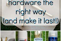 How paint hardware