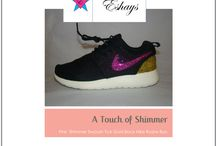 Nike Shoes / #Cheetah #CheetahRoshe #BlingNikes #RedRhinestones #GoldGlitter #GoldRoshe #GoldCheetah #GoldNikeRoshe #FloralNikes #Floral #Goldversace #GoldBlackPrint #RedNikeRoshe #BlackNikeRoshe #CustomNikes #Eshays @eshayfrancois