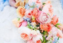 Presentation Style Bouquets / Long stemmed flowers and foliages that the bride carries cradled in her arm.